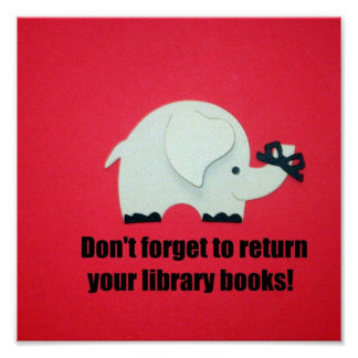 ¡No olvide volver sus libros de la biblioteca Impresiones
