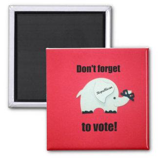 ¡No olvide votar… al republicano! Imán Cuadrado