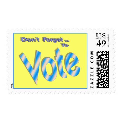 No olvide votar envio