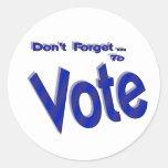 No olvide votar etiqueta