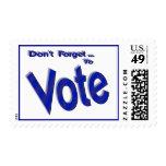 No olvide votar franqueo