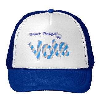 No olvide votar gorro de camionero