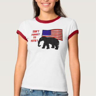 No olvide votar (la camiseta de las señoras) playera
