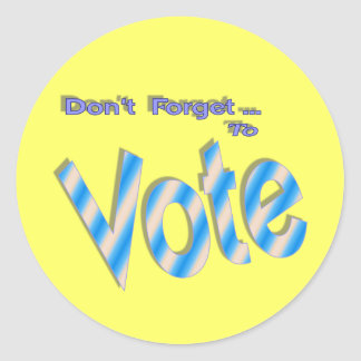 No olvide votar pegatina redonda