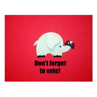 ¡No olvide votar! Tarjetas Postales