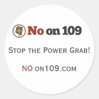 NO on 109 Sticker (Sheet of 6)