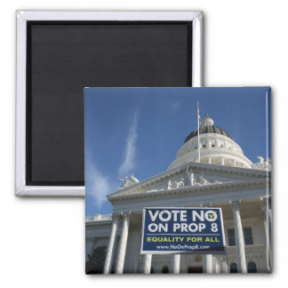 No on 8 Capitol 2 Inch Square Magnet
