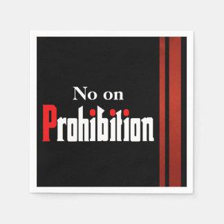 No on Prohibition Paper Napkin