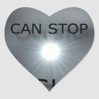 no one can stop my shine heart sticker