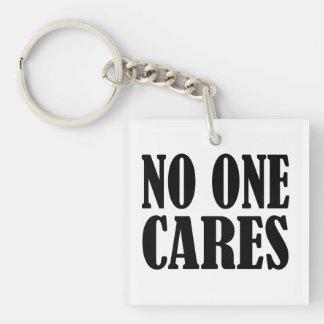No One CARES Keychain