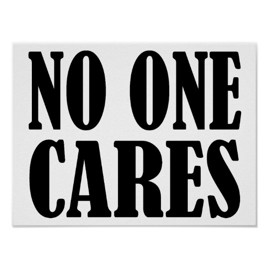 No One CARES Poster