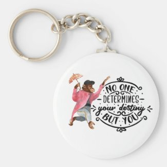 No One Determines Your Destiny But You With Monkey Keychain