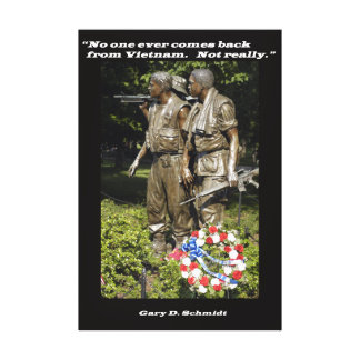 No One Ever Comes Back from Vietnam Canvas Print