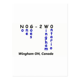 No One Goes To Wingham Ontario Merchandise Postcards