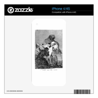 No one has seen us by Francisco Goya iPhone 4S Decal