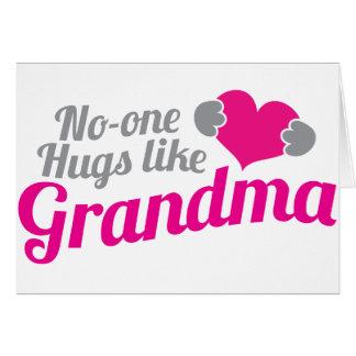 No-one HUGS like Grandma Card