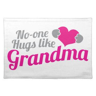 No-one HUGS like Grandma Cloth Placemat