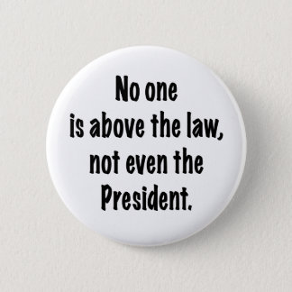 No one is above the law pinback button