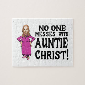 No One Messes With Auntie Christ Jigsaw Puzzle