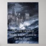 No one raindrop... print