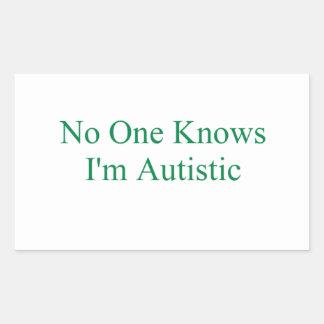 No One Rectangular Sticker
