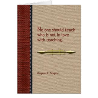 No one should teach card