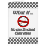 no one smoked cigarettes greeting cards