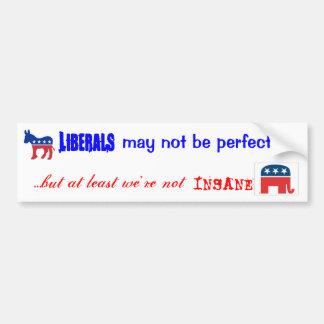 No one's perfect car bumper sticker