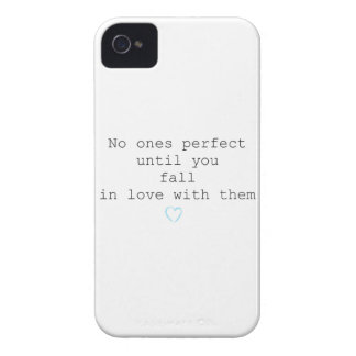 No ones perfect until you fall in love with them iPhone 4 case
