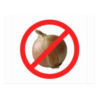 No Onion Postcard
