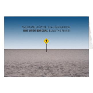 No Open Borders Card