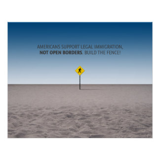 No Open Borders Poster