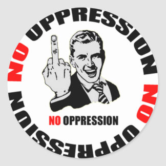 No Oppression Page Logo Classic Round Sticker