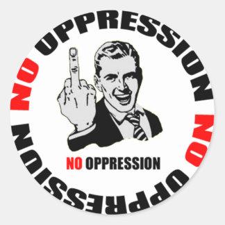 No Oppression Page Logo Round Sticker