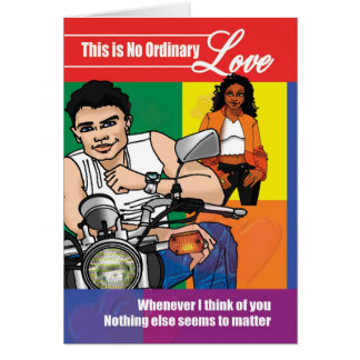 No Ordinary Love Card