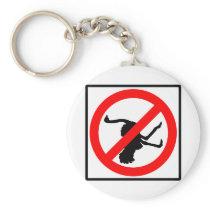 No Ostriches Highway Sign Keychain