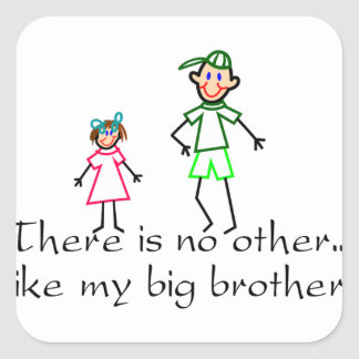 No Other Big Brother Square Sticker