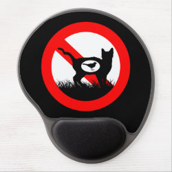 Gel Mousepad with No Outdoor Cats design