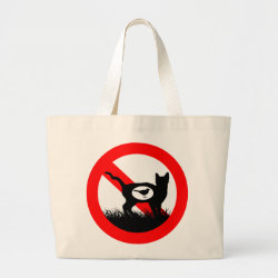 Jumbo Tote Bag with No Outdoor Cats design