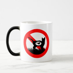 Morphing Mug with No Outdoor Cats design