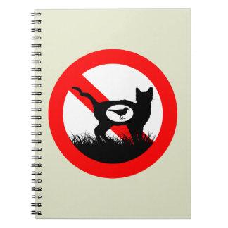 No Outdoor Cats Notebook