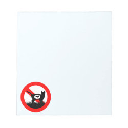 5.5' x 6' Notepad - 40 pages with No Outdoor Cats design