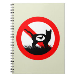 Photo Notebook (6.5' x 8.75', 80 Pages B&W) with No Outdoor Cats design