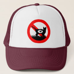 Trucker Hat with No Outdoor Cats design