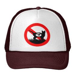 Trucker Hat with No Outdoor Cats design