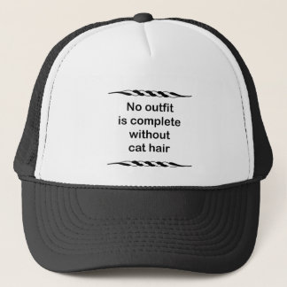 No outfit is complete without cat hair trucker hat