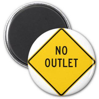 No Outlet Highway Sign Fridge Magnets