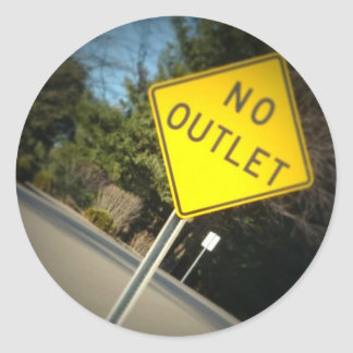 No Outlet sticker