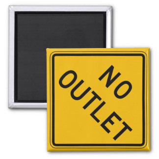 No Outlet, Traffic Warning Sign, USA Fridge Magnets