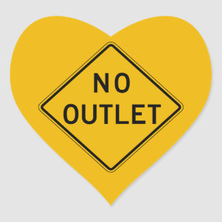 No Outlet, Traffic Warning Sign, USA Stickers